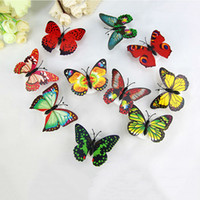 Wholesale Eautiful Butterfly LED Night Light Flashing Colorful Lamp With Suction Pad for Christmas Wedding Decoration Night Lamp
