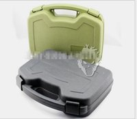 Wholesale High Quality ABS plastic storage box for Tactical Hard Pistol Box Cun Case Padded Foam Lining for Hunting Airsoft CS game CM