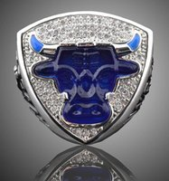 Wholesale 2017 New Arrive th championship bull rings Souvenirs champion Golden rings for fans new year gift