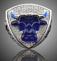 2017 nuevos llegan los anillos de oro del campeón de los recuerdos de los anillos del toro del campeonato 1993th para el regalo del Año Nuevo de los ventiladores