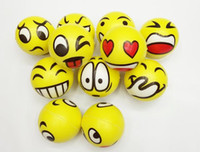 Wholesale Emoji Faces Squeeze Stress Ball Hand Wrist Finger Exercise Stress Relief Therapy Assorted Styles New Christmas party toys