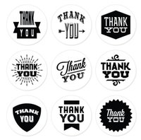 bags labels - 180PCS Handmade Paper Packing Seal Sticker Black and White THANK YOU inch Round Gift Bag Sealing Adhesive Stickers Packaging Label