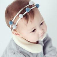 baby shower novelties - 10pcs Novelty Cute Color Pom Pom Headband Fairy Elastic Hair Bands Baby Shower Baptism Graceful Stretch Newborn Infant Toddler Hairband