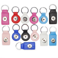 Wholesale NOOSA leather snap button Keychain jewelry hot noosa Snap Key Chain Fit Snap Button