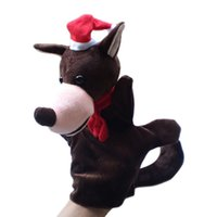 Wholesale Stuffed plush Toy Wolf hand puppet children baby Puppet toys Christmas gift wolf