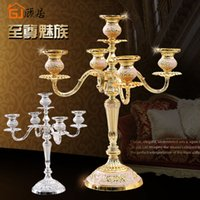 Wholesale 5 Head Candlesticks for Hanukkah or Christmas Candle Light Holder for Home Wedding Dinner Candelabras Decoration