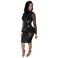 Cheap Autumn Women Black Sexy Lace Bandage Dress 2016 New Summer Style High Quality Celebrity Night Club Wear Bandage Party Dresses