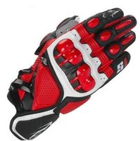 Wholesale Hot S1 MOTO Motorcycle Racing Gloves Top Leather Black Red White Fashion Motocross Motorbike Guantes Urban Riders Luvas
