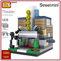 abs theater - LOZ ideas Mini Block Theater Stage Street View Model Building Blocks Toys DIY Gift Bircks Store Toy ABS Models Set Puzzle