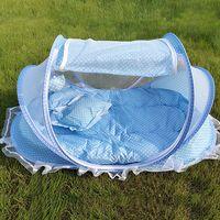 baby sleeping mattress - Baby Infant Foldable Travel Sleep Bed Mosquito Net Mattress Pillow Tent Crib