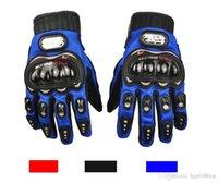Wholesale Pro Biker Motorcycle Gloves Full Finger M L XL Motorbike Motocross Luvas Guantes Moto Protective Gears Gloves Blue Red Black