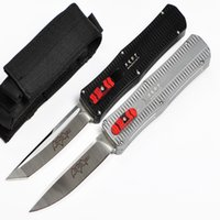 aviation bags - DHL Fast Andy Manufacture Paladin Survival Tactical Knife AUTO D2 Satin Blade EDC Pocket Knife Gift Knives with Nylon Bag and Retail Box
