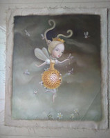 bee figures - The Elve Bee Pure Handpainted abstract Art Oil Painting Wall Deco On High quality Canvas in Multi sizes