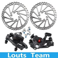Wholesale Stainless Steel Bicycle Disc Brake Set Kit Bike Rotor with Clipers Rear Wheel Brake F R Front Wheel Brake F R