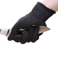 Wholesale Black Stainless Steel Wire Resistance Gloves Working Protective Elbow Safety Gloves Cut Resistant Anti Abrasion Gloves ZA2561