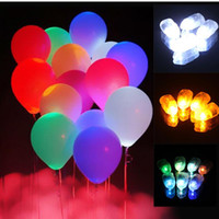 Wholesale 2017 New Colorful LED Balloon Lights Lamps Paper Floral Lanterns Lamp For Xmas Wedding Birthday Celebration Party Decoration