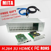 Wholesale 16 channels H Hdmi input Video Encoder for IPTV Live Stream Broadcast by RTMP HTTP RTSP for Media Server HDMi