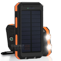 Wholesale solar power bank outdoor waterproof mah with led light USB port