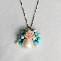 Wholesale D506151 natural abnormity pearl pendant sterling silver necklace high grade jewelry Natural beauty grace and any color can be perfect