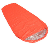 Wholesale Single Person Outdoor Camping Mummy Style Thermal Reflection Sleeping Bags Mummy Survival Blanket Outdoor Travel Essential Sleeping Bags