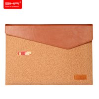 Wholesale 2017 New SIKAI Inch MacBook Air Pro laptop case cover netbook Natural Cork Design Canvas Briefcase carrying case protector bag
