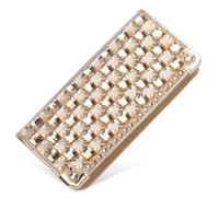 Wholesale Fashion Women Wallets Good Quality PU Leather diamond Lady Handbags Coin Purse Moneybags Clutch Wallet Cards Holder evening bags GL K818