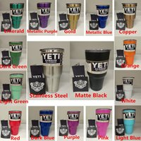 Wholesale Colorful Metalic Yeti Cups oz oz oz Yeti Rambler Tumbler Coolers Cups Coffee Yeti Vacuum Mugs
