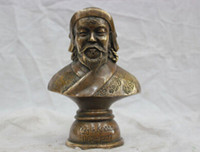 asian bust - Copper Brass CHINESE crafts Asian quot Elaborate China Copper Genghis Khan Bust Statue