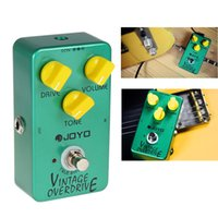 Wholesale Joyo JF Vintage Overdrive Full Sound Effect Guitar Pedal with True Bypass for Classic Tube screamer with Battery LIF_101