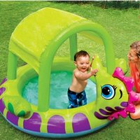 Wholesale Intex inflatable swimming pool with sun shelter inflatable pool bathtub Intex