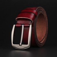 basic jeans - Basic casual male belt genuine leather designer belts men high quality pin buckle brand jeans strap all matching styles
