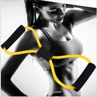 Resistance Bands Blue Women Yoga Training Resistance Bands Tube Workout Exercise for Yoga 8 Type Fashion Body Building Fitness Equipment Tool