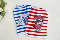 Wholesale 2017 New Fashion Design Summer Pet Vests Small Medium Dog Boy Cool Stripe Shirt Clothing Apparel for Puppy Teddy Chihuahua