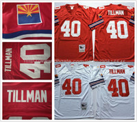 best sport shirts - Best Quality Pat Tillman Men Sport shirts Stitched Embroidery Stitched Name red white