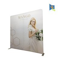 backwall display - 10ft Exhibition Booth Trade Show Straight Shape Tension Fabric Display Banner Stand Wedding Backdrop Backwall for Advertising with banner