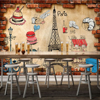 asia foods - D Stereo Custom European Style Bread Cake Shop Food Background Wall Decoration Painting High Quality Mural Wallpaper