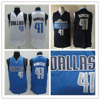 Wholesale New Mans Dirk Dirk Nowitzki Jerseys Top quality Size S XXL Men Sport Jersey Stitched