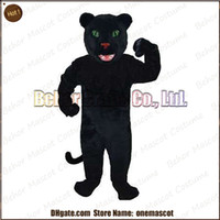 Wholesale Small leopard mascot costume cheap high quality carnival party Fancy plush walking black Panther mascot adult size
