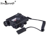 Wholesale Sinairsoft Tactics Hunting Green and red Laser Flashlight Unmark Sightmark LoPro w Lumens Combo Pressure Pad Switch Mouse Tail SM25004