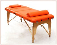 Wholesale New Arrival Section Folding Massage Table Health and Beauty Massage Table Makeup Service Equipments