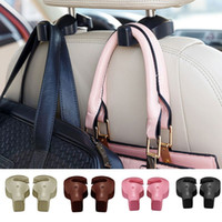 Wholesale 1 pair Universal Hidden type Car Headrest Bag Hook Automotive Car Back Seat Hooks for Grocery Shopping Auto Vehicle Hanger Car