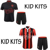 best boys clothes - 2016 OGC Nice Home rd black soccer kid kits Children jerseys shorts best quality shirt KIDS Balotelli BOYS kits clothes