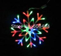 ac brackets - led Snowflakes LED fairy String Light snow flake rope light motif Christmas Xmas tree Light Bracket decoration V multicolor