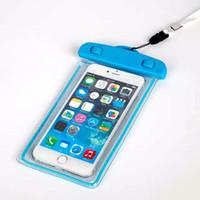 оптовых waterproof case-Универсальный светящийся в темноте водонепроницаемый футляр для Coque для iPhone 7 6 5 S для Samsung Galaxy J5 S5 Крышка корпуса плавать Водонепроницаемый футляр для телефона Флуоресцентный