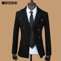 Wholesale 2017 New Male Casual Suit Jacket Full Sleeve black grey Colors Over Coat Jacket Stylish Slim Coat