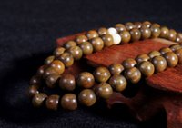 beaded chain braclets - Brand mm Tibetan Buddhism green sandalwood Necklace Prayer Beads braclets