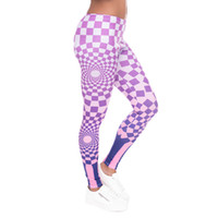 best workout pants - Best Selling Hypnotic Grids Pattern Women Stylish Personality Fitness Leggings Middle Waist Pencil Pants Yoga Workout Pants