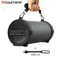 as pic as pic as pic Wholesale- New Deep Bass Outdoor Bluetooth Speaker Wireless Sports Portable Subwoofer Bike Car music Speakers Radio FM Mp3 player with Mic