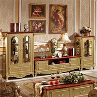 antique tv stands - hot selling new arrival white color High quality Living Room Wooden furniture lcd TV Stand pfy10065