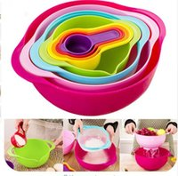 Wholesale high quality mother day gift piece in one set Multicolor creative kitchenware set kitchen Bowl set kitchen tool
